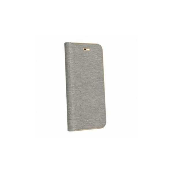 Peňaženkový obal Luna Book na Huawei P30 Pro  Stříbrný